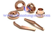 tungsten copper electrical contacts picture