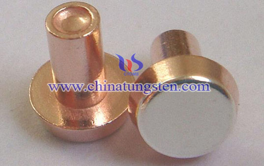 tungsten copper rivet electrical contact